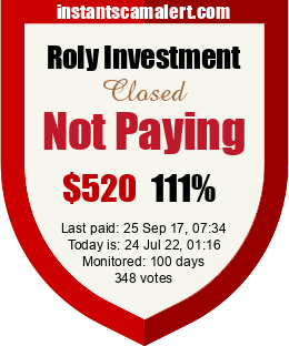 instantscamalert.com - hyip roly investment